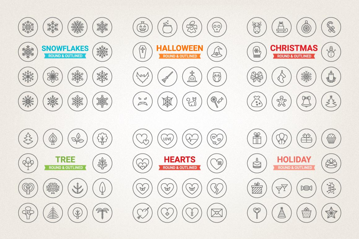 77 Off - Circle Icons Big Bundle example image 3