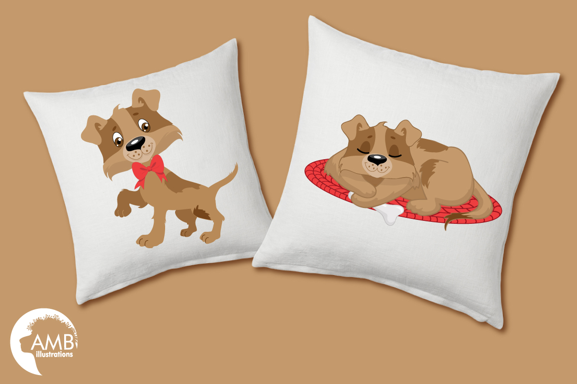 Day in a dog's life clipart, graphics, illustrations AMB-594 example image 2