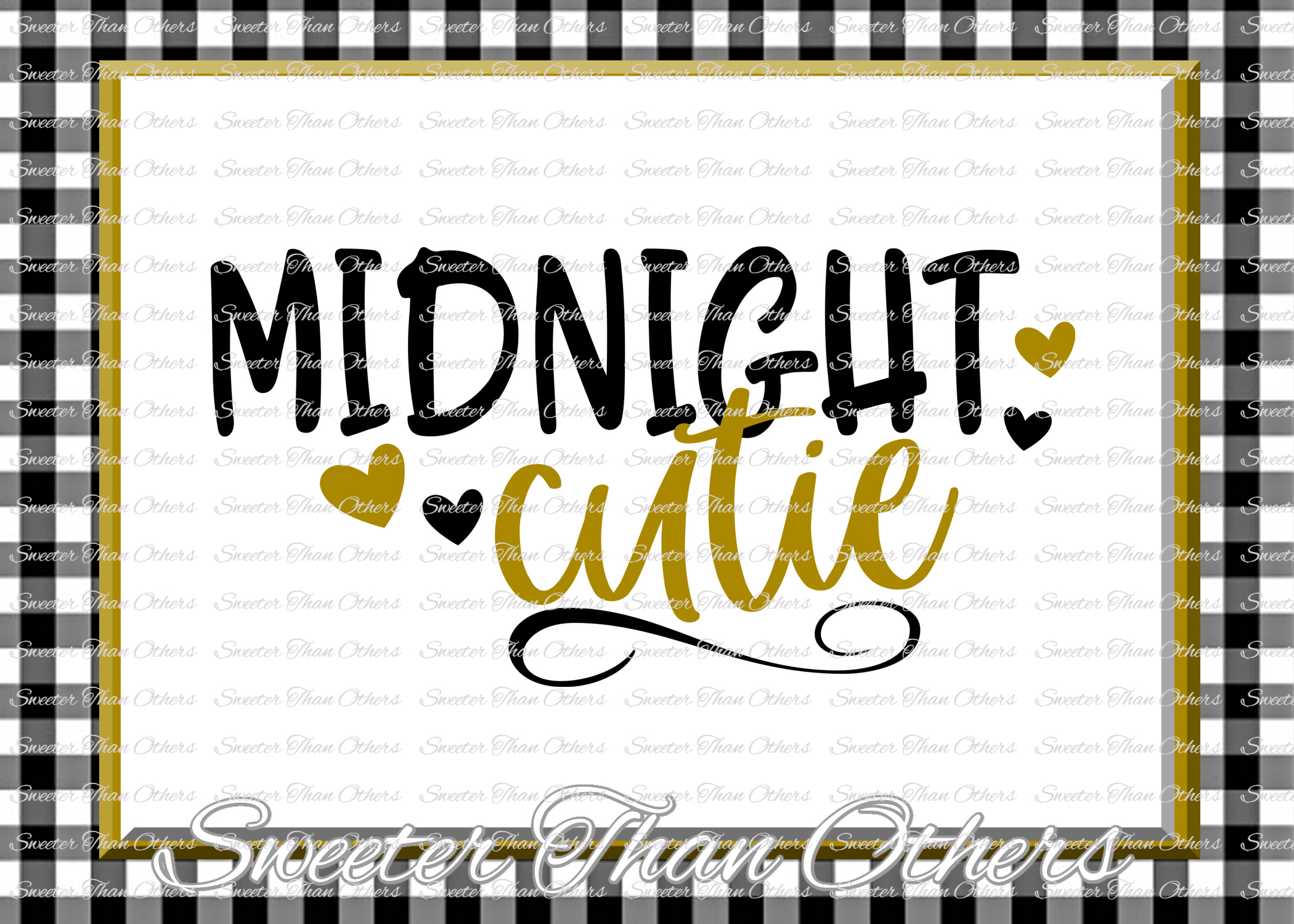 Midnight Cutie svg, New Year 2018 example image 1