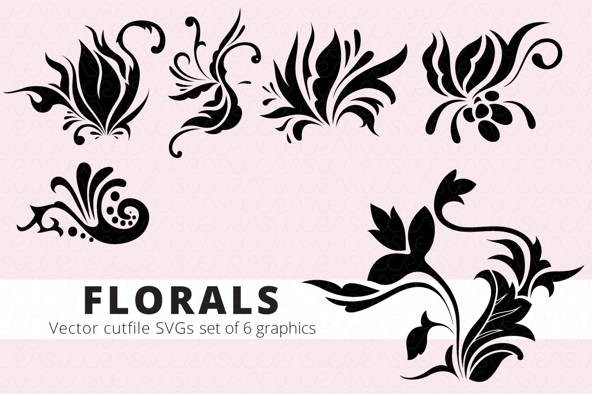 SVG Florals Cutfiles Bundle Pack of 270 vector graphic shape example image 17
