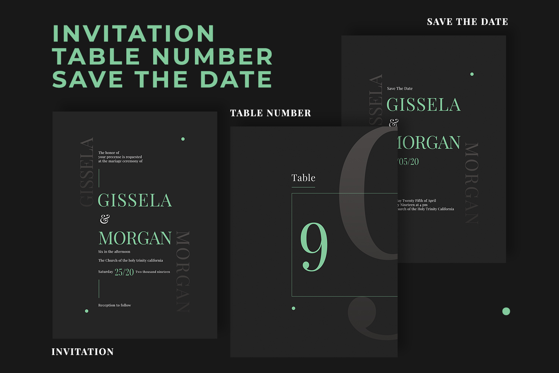 Wedding Invitation Suite - Minimal example image 2