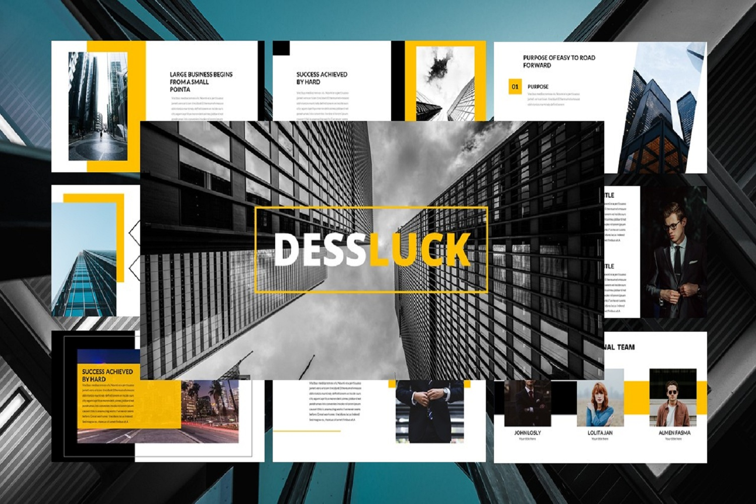business template google slides example image 1
