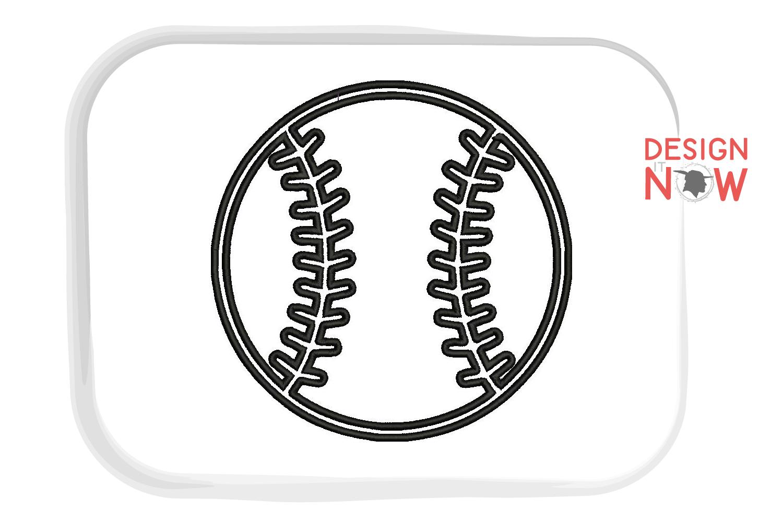 Baseball Applique Design, Sport Embroidery, Ball Applique example image 2