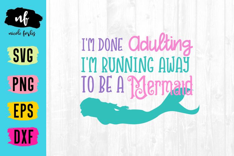 Mermaid SVG Cut File Bundle example image 3