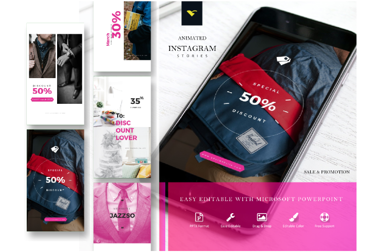 Instagram Story Template Sale Discount Series example image 1