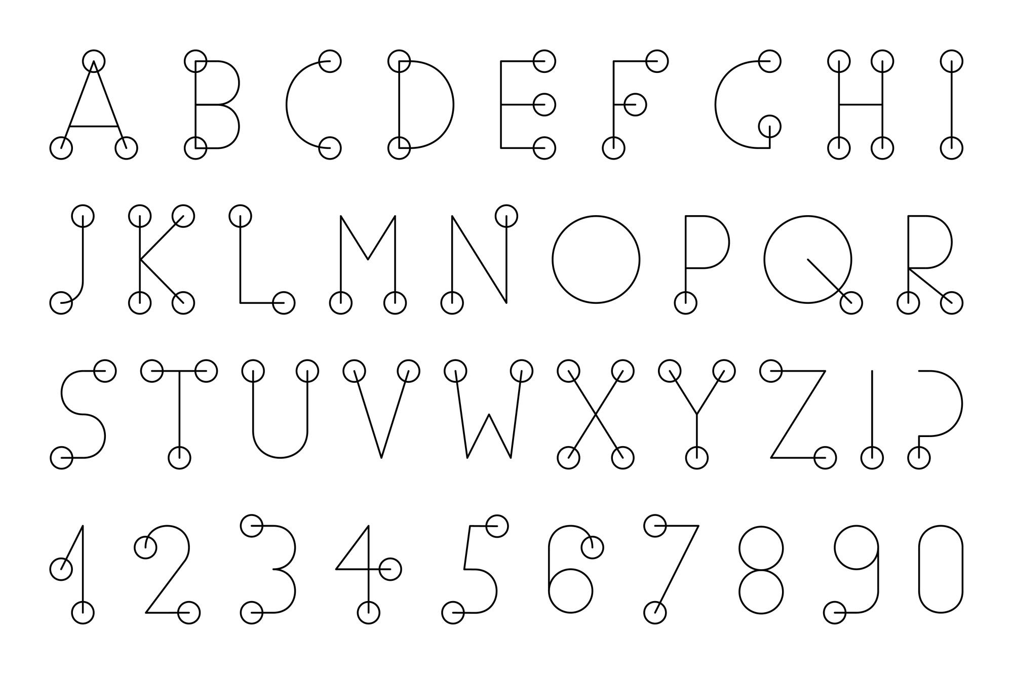 Minimalist English Alphabet. example image 1