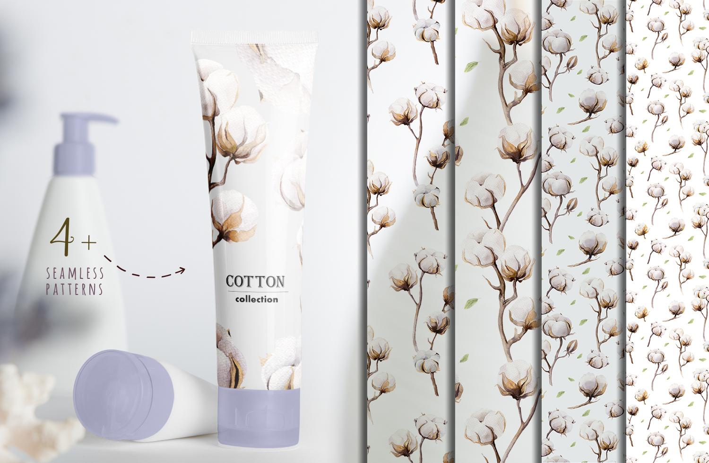 Watercolour cotton & birds example image 8