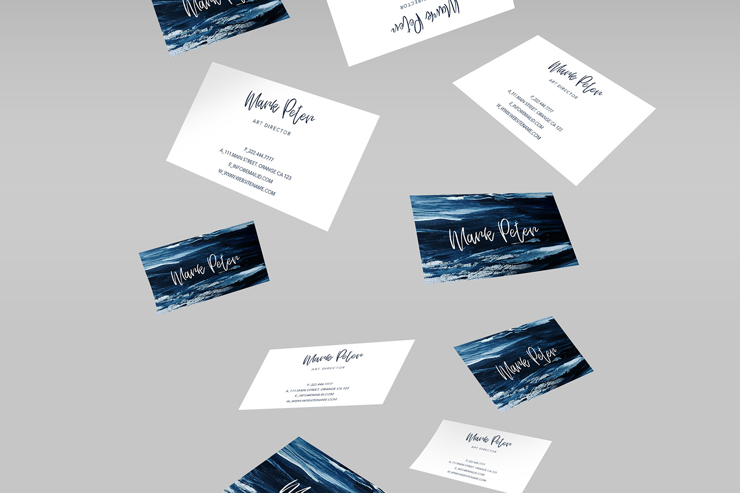Art canvas effects business card example image 2