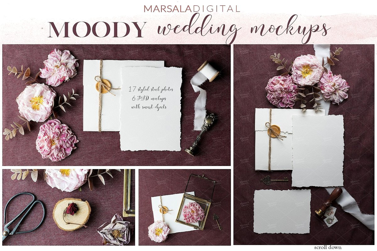 Wedding Mockup Bundle 400 Massive Wedding Mockups Bundle example image 9