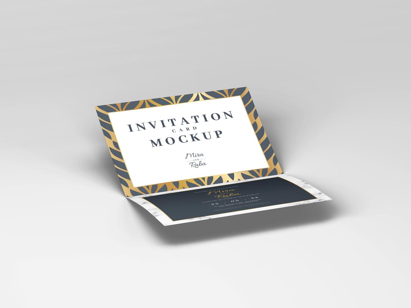 Invitation Card Mockups V1 example image 2