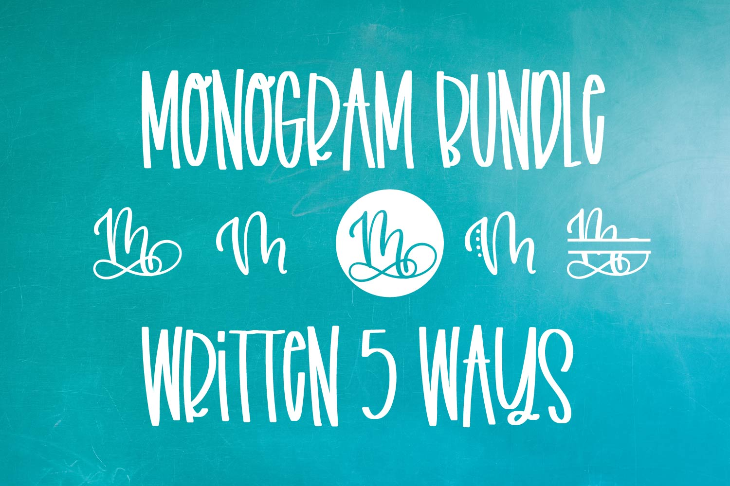 Monogram Bundle - FIVE Styles Including a Split Monogram! example image 7