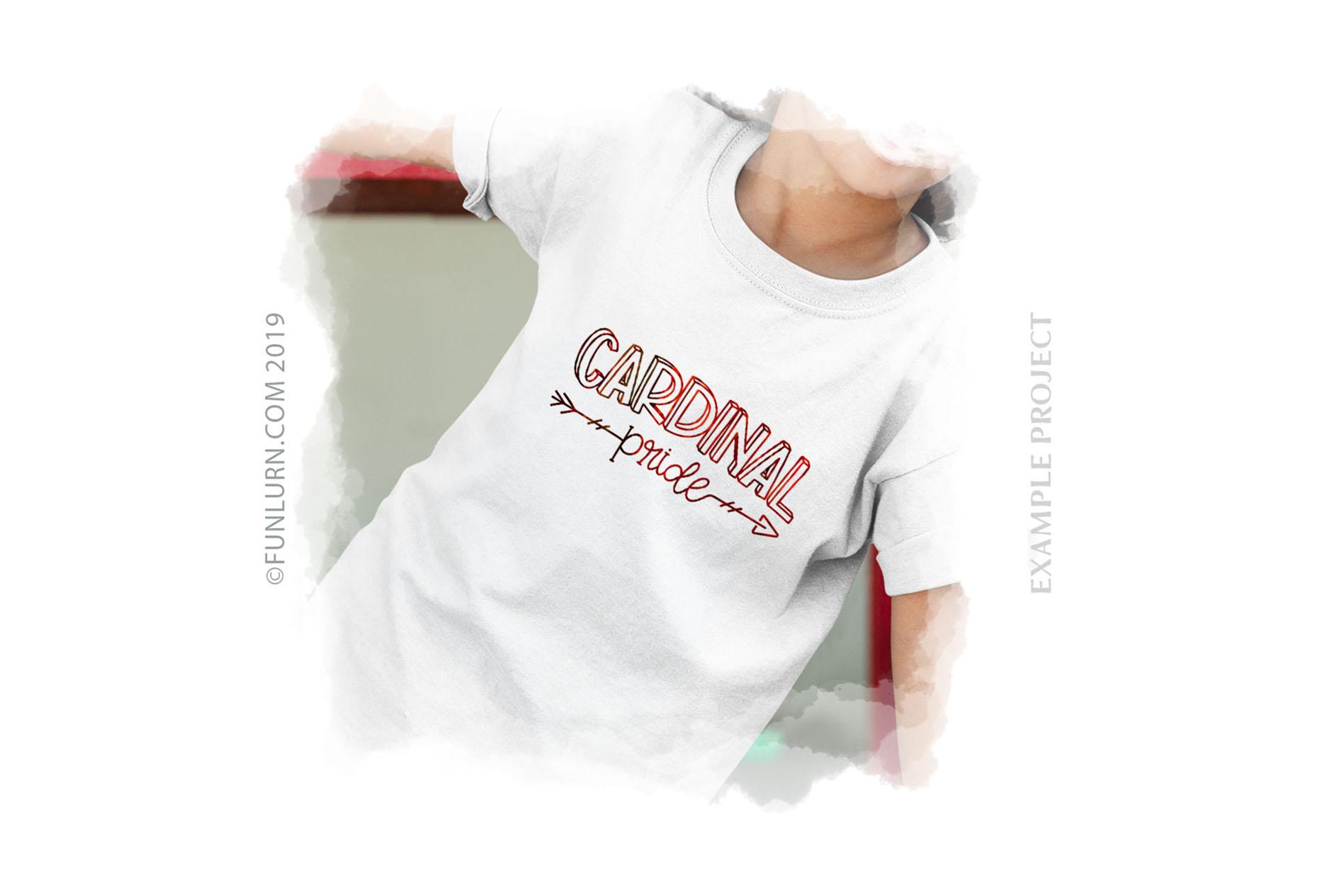 Cardinal Pride Team SVG Cut File example image 3