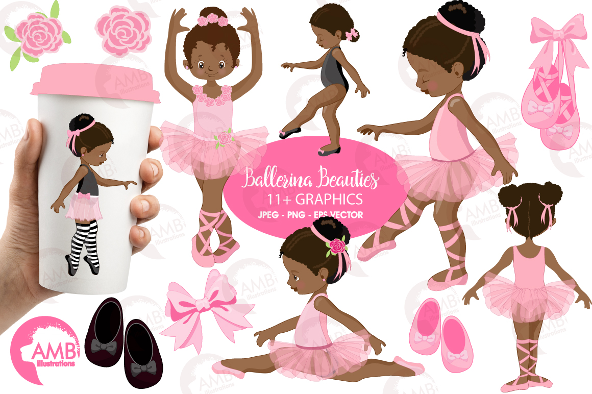 Ballerina Beauties clipart, graphics illustration AMB-1362 example image 1