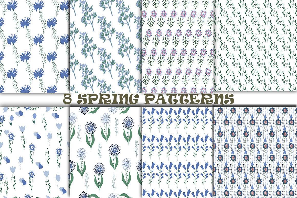8 Spring Patterns example image 1