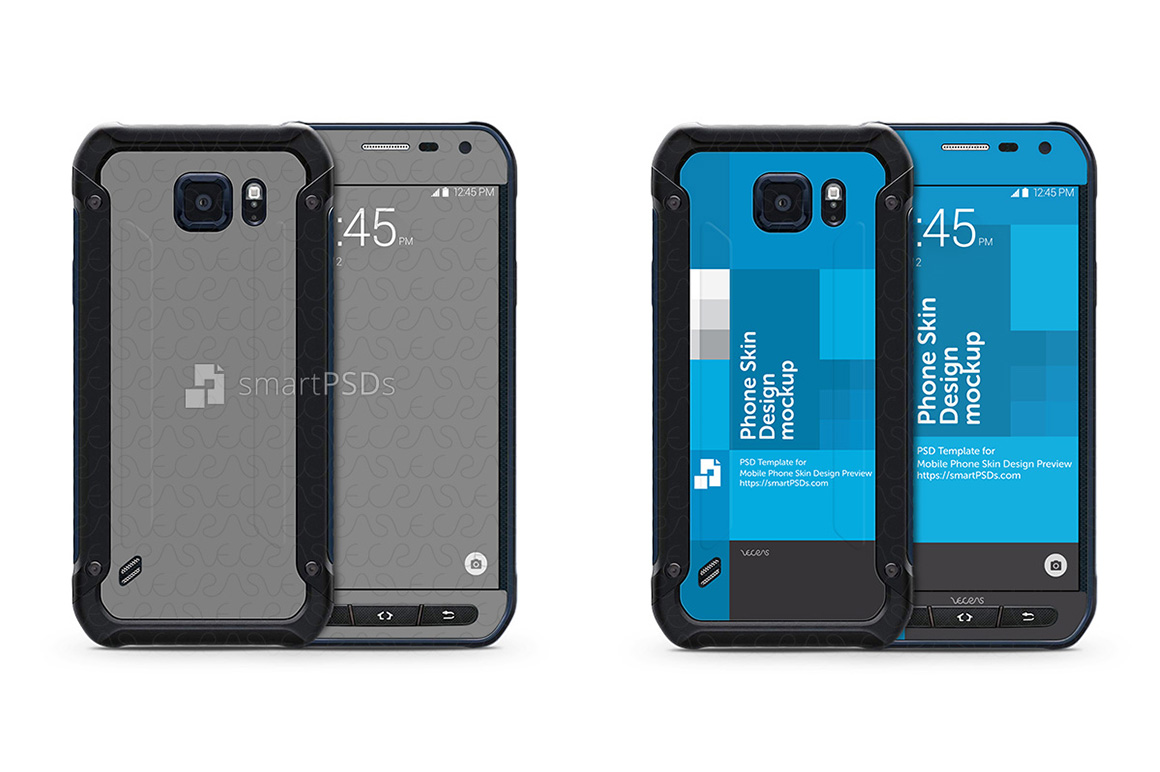 Samsung Galaxy S6 Active Mobile Skin Design Template example image 1