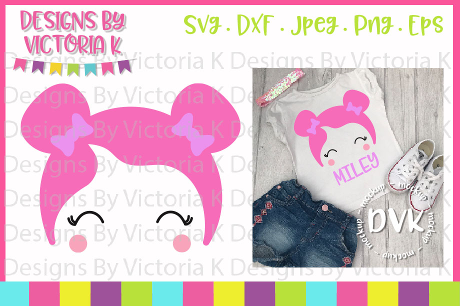 Doll, Dolly Head, SVG, DXF, PNG example image 1
