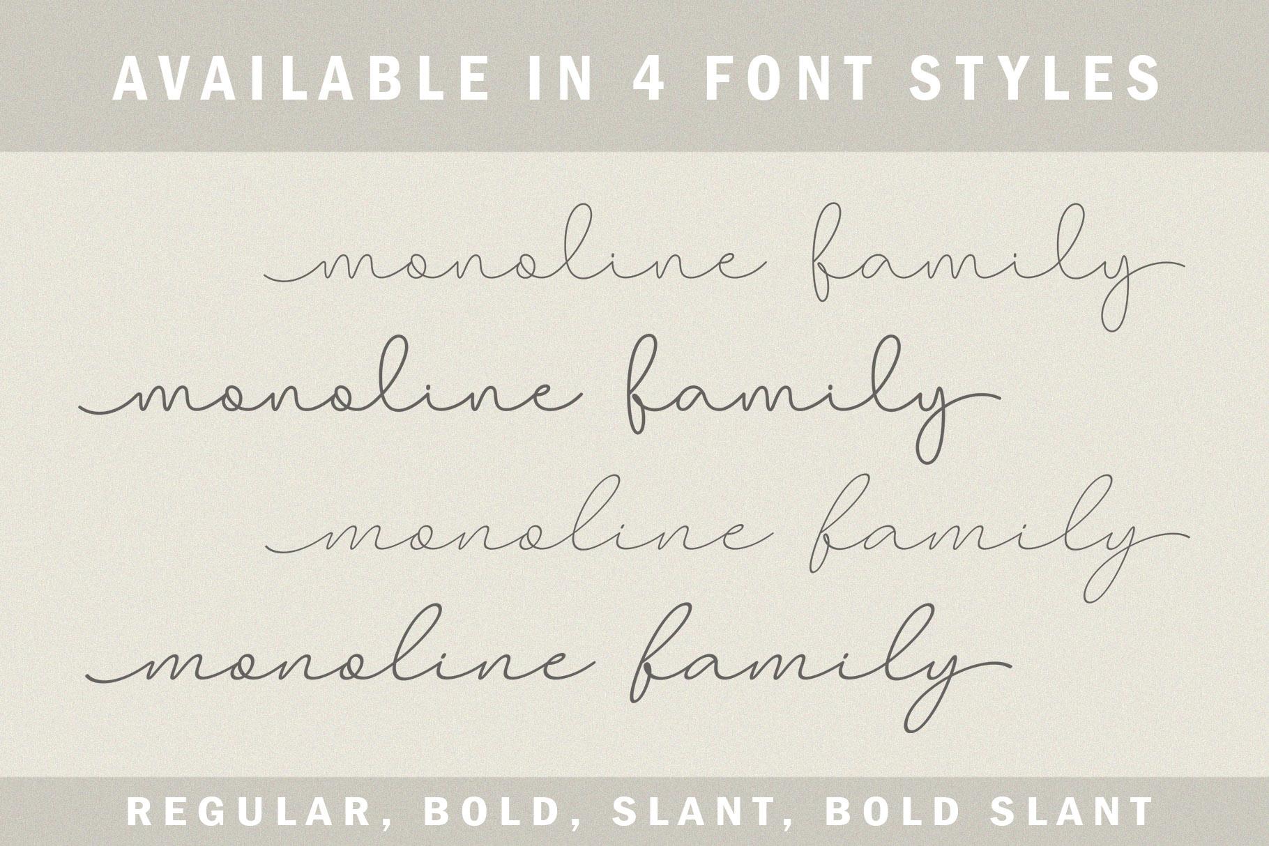 Larianti Monoline Handwritten Font example image 2