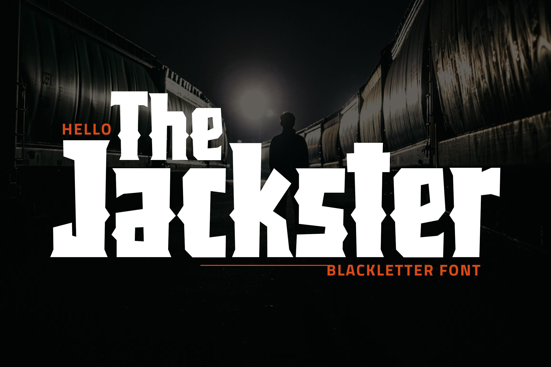 Jackster - Blackletter Font example image 1