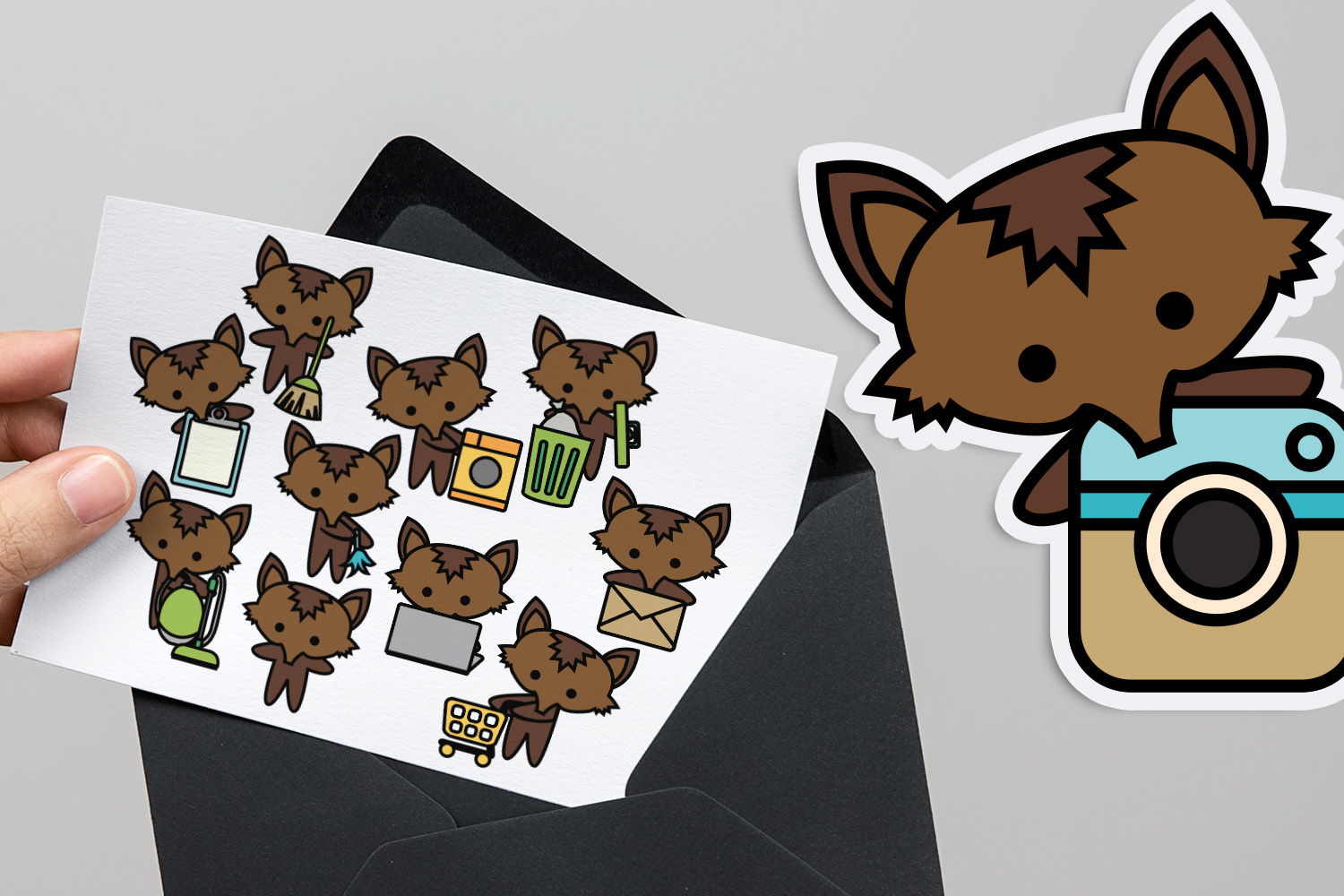 Chores Bundle - Animals characters clip art illustrations example image 14