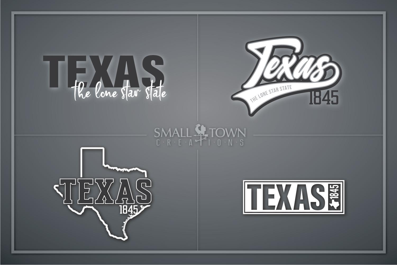 Texas, The Lone Star State slogan, logo, PRINT, CUT & DESIGN example image 1