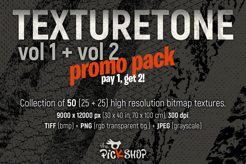 Texturetone Promo Pack. Vol 01 and Vol 02 example image 1