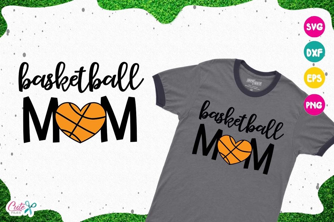 Basketball mom SVG, cut files for craftter example image 1