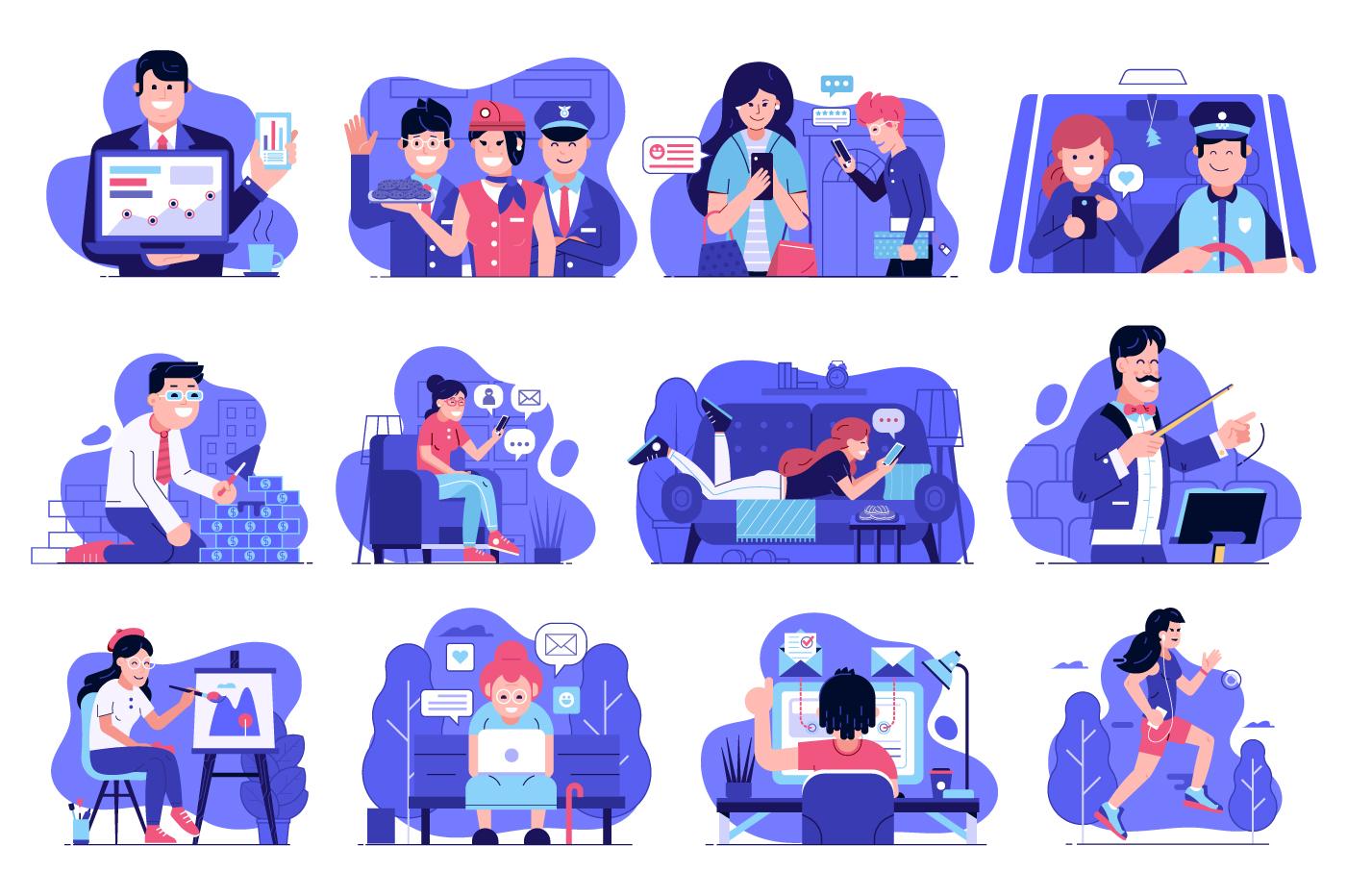 Web Marketing People Illustrations example image 2