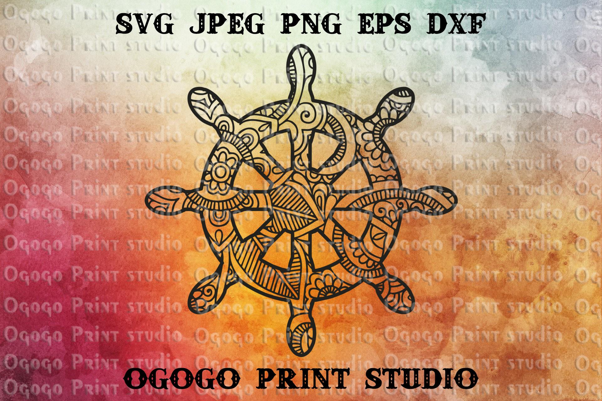 Ship's wheel SVG, Zentangle SVG, Mandala svg, Sea svg, Ship example image 1