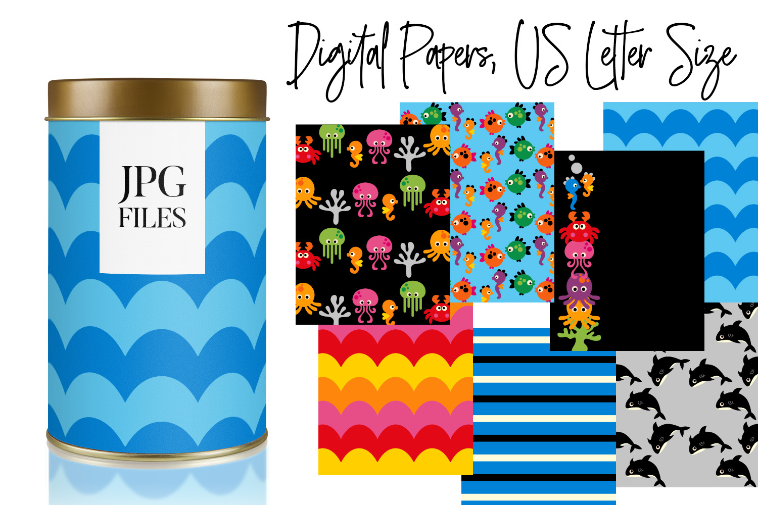 Digital Papers Bundle Vol. 2 - Background Patterns example image 25