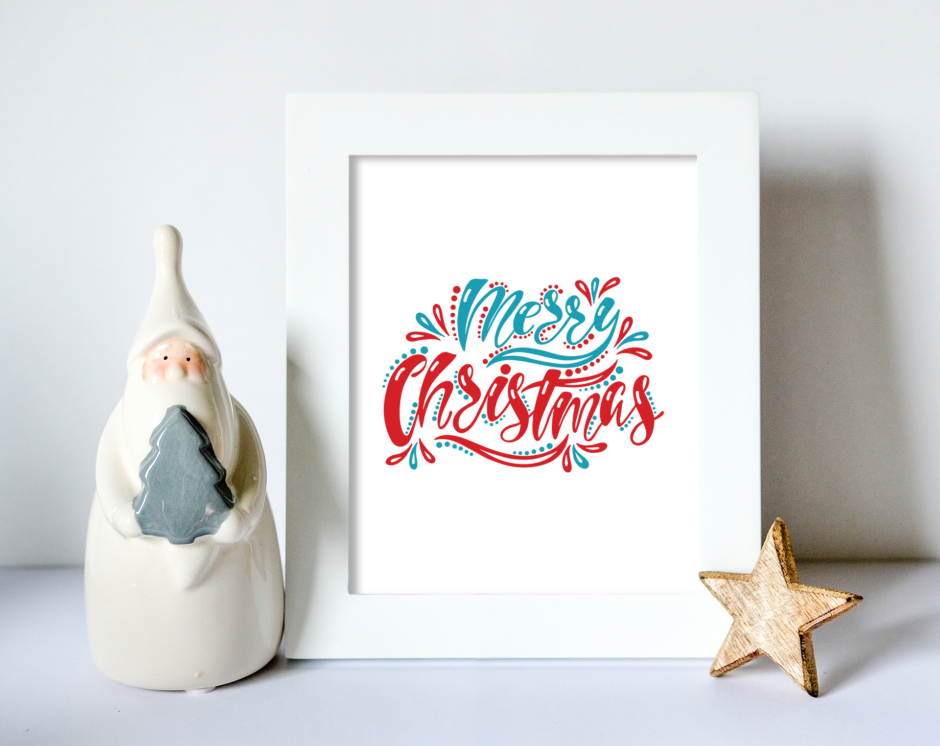 Christmas SVG Bundle. Holiday vector clipart. Cutting Files. example image 5