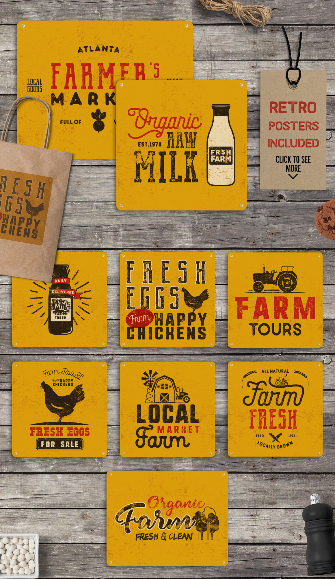Organic Farm & Eco Food Badges example image 6