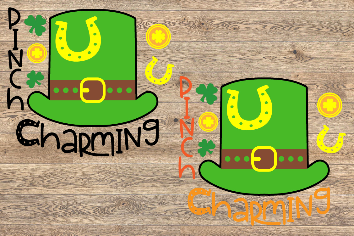 Pinch Charming SVG St. Patricks Day SVG Shamrock 1258S example image 2