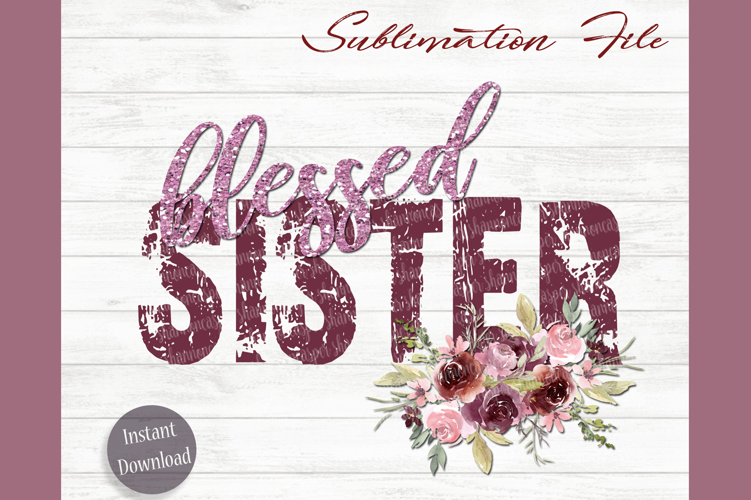 Blessed Sister Png File| Sublimation File example image 1