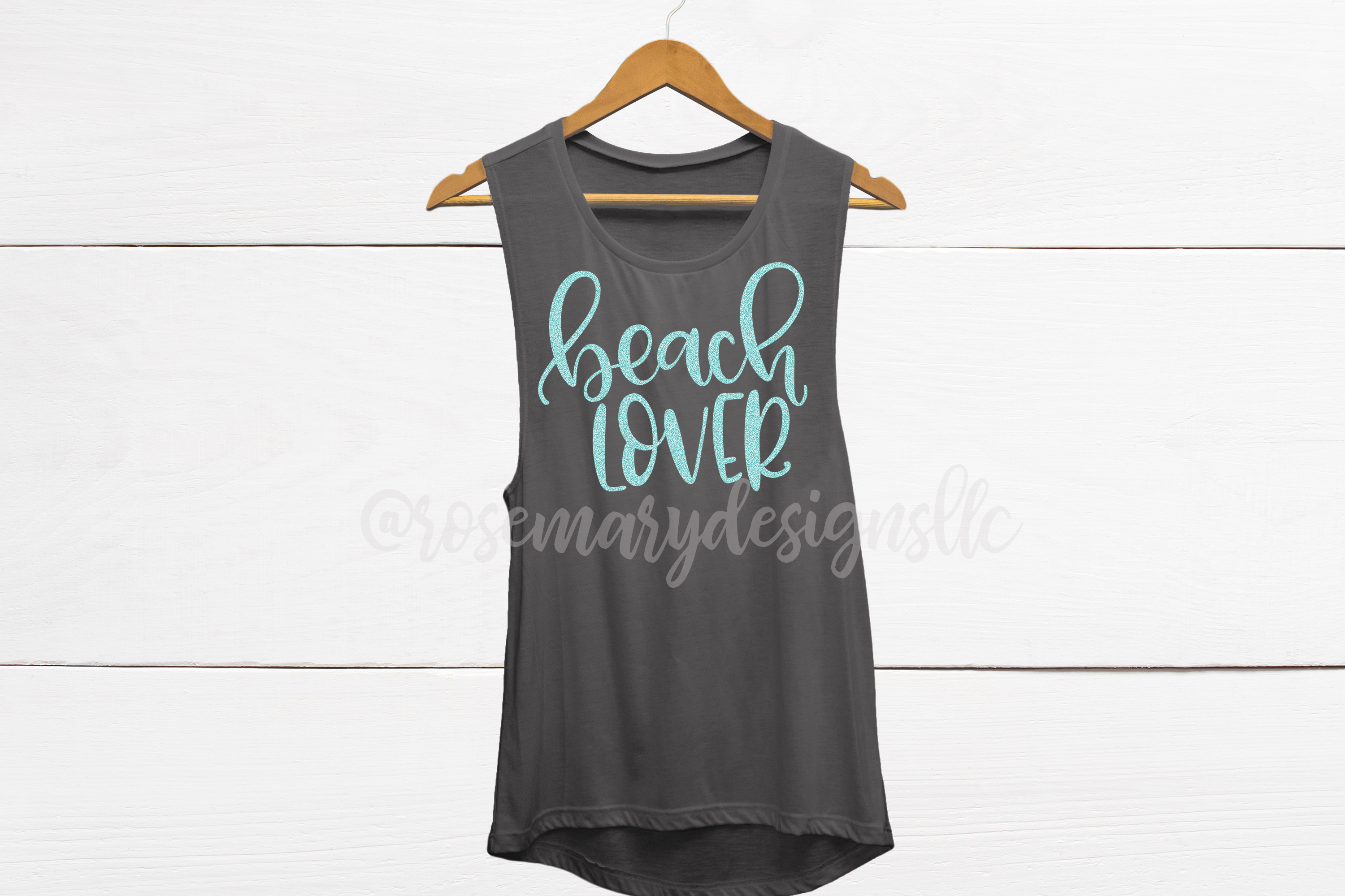 Beach Lover - Hand Lettered SVG example image 1