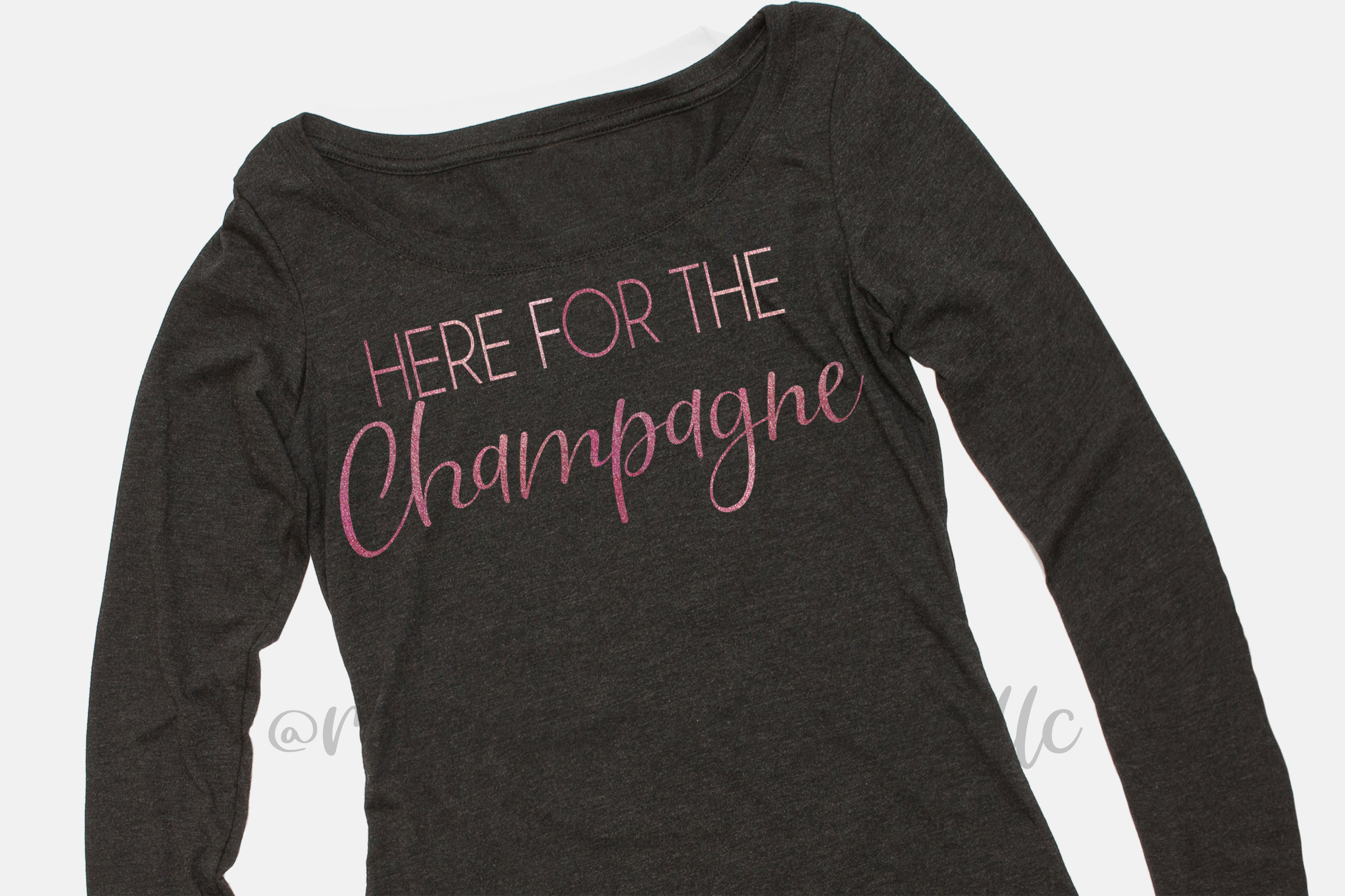 Here for the Champagne - SVG example image 1