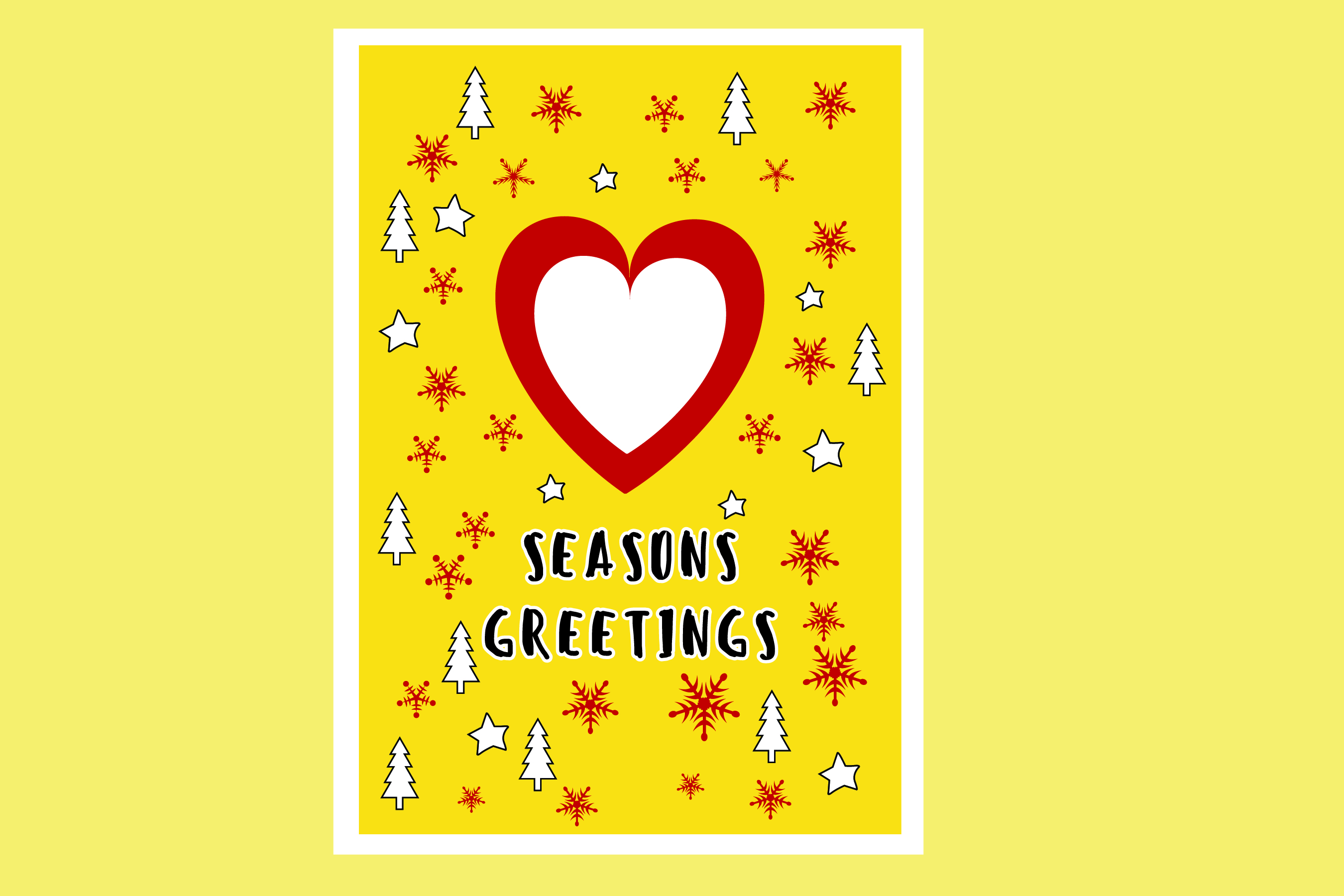 AA25-Christmas Greetings cards 6 Designs - SVG Bundle example image 7