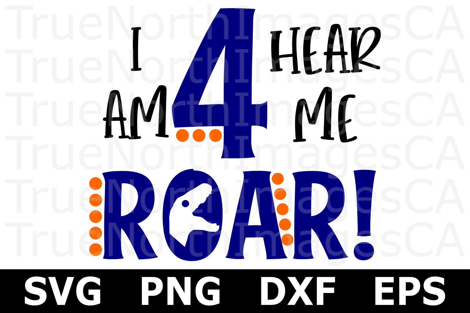Roar - I'm Four - A Birthday SVG Cut file example image 2