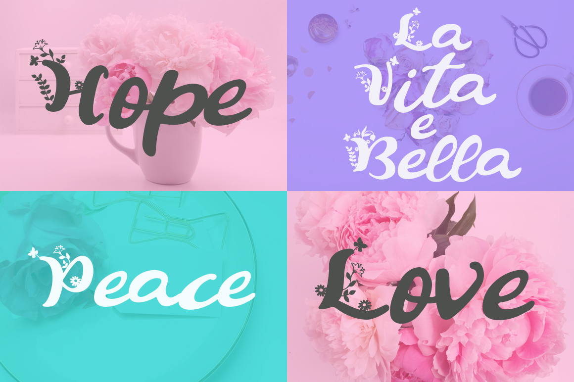 Summer Flowers Fun and Flowery Font example image 2