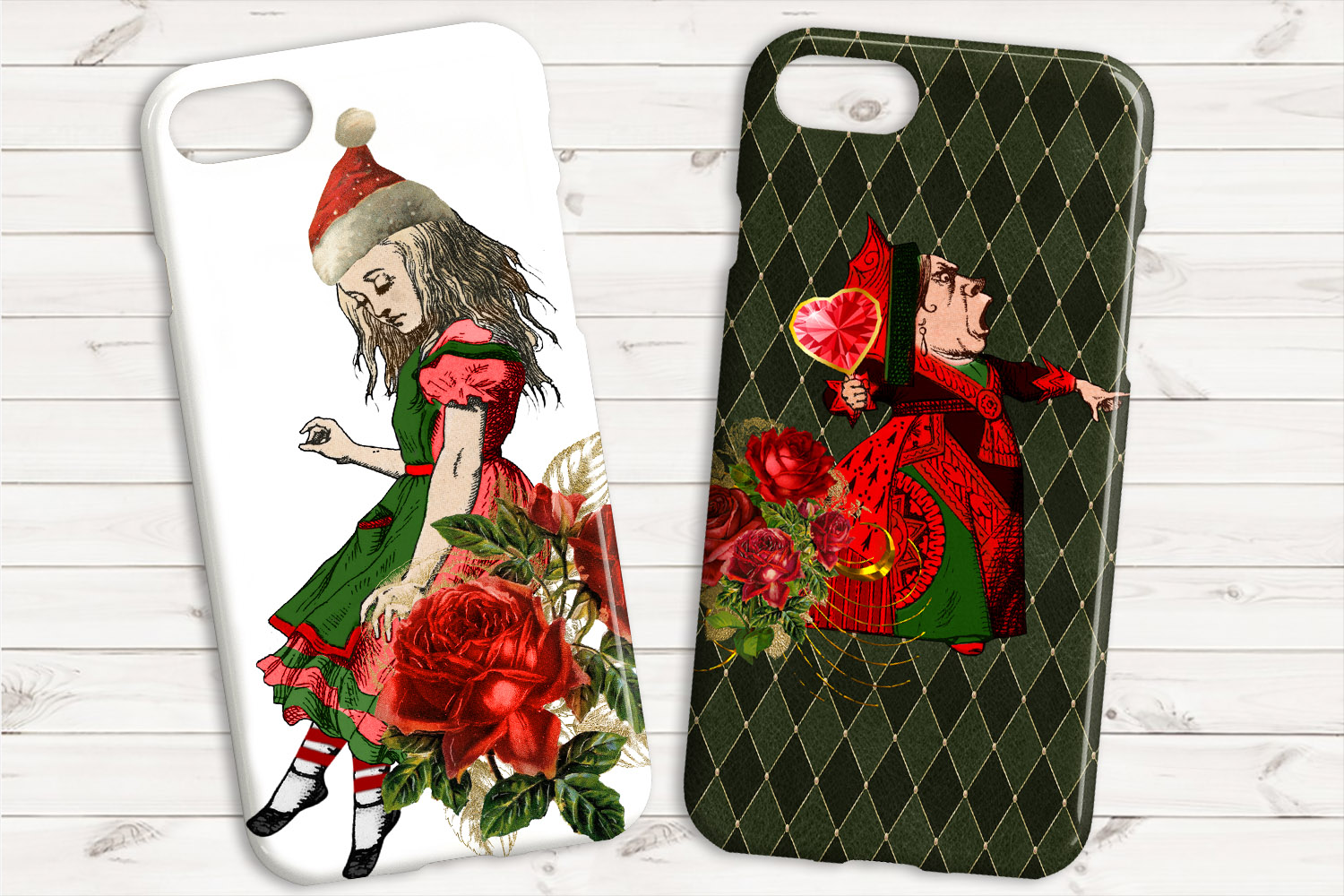 Christmas Alice In Wonderland Clipart example image 8