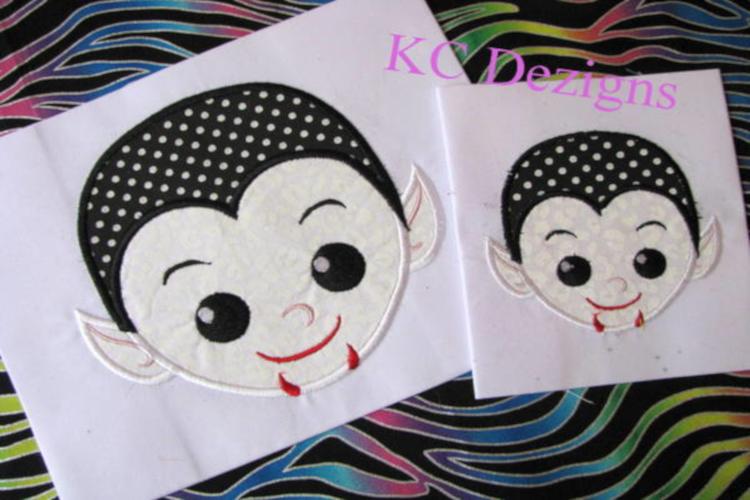 Vampire Boy Machine Applique Embroidery Design example image 1