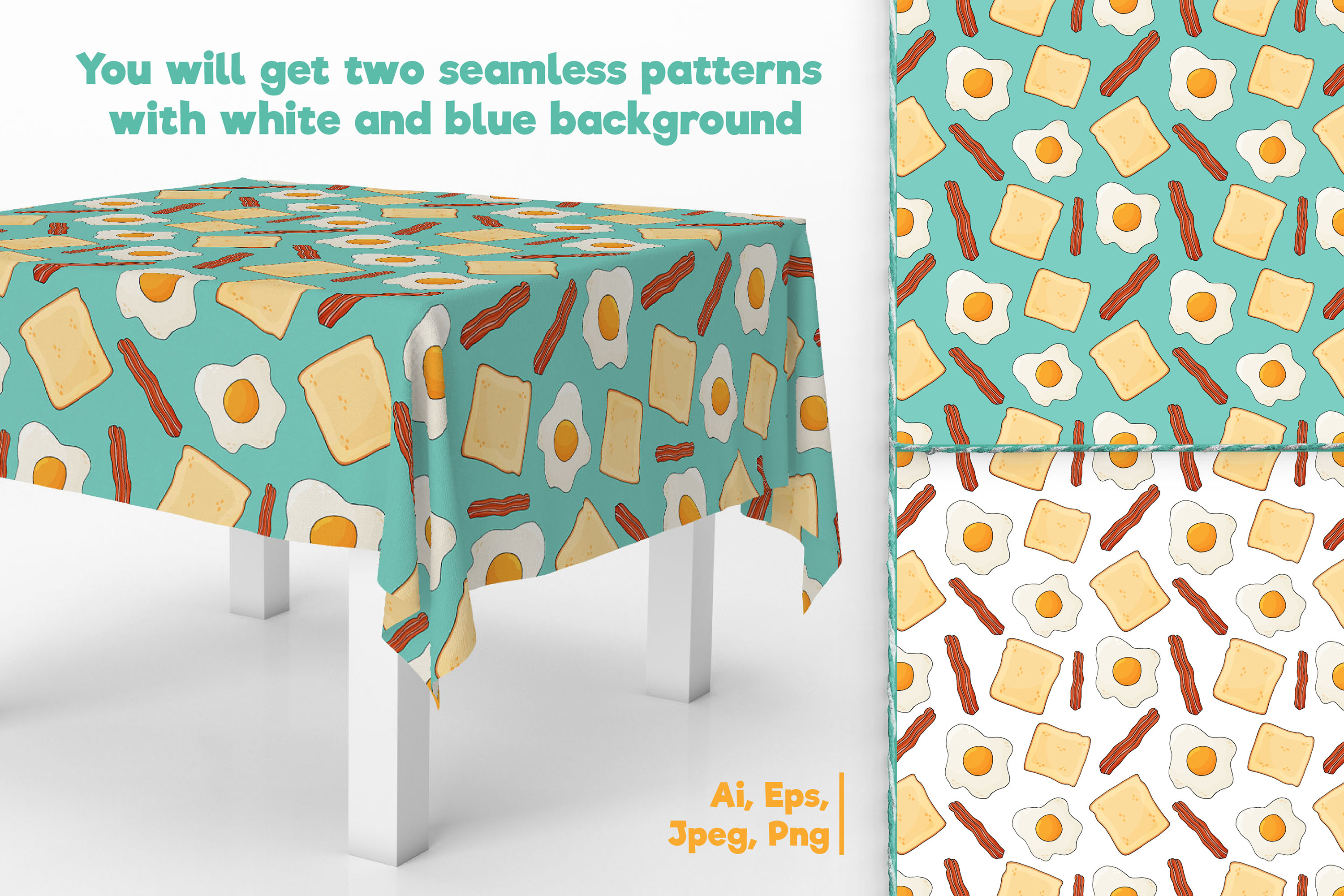 Fried Eggs Patterns example image 2