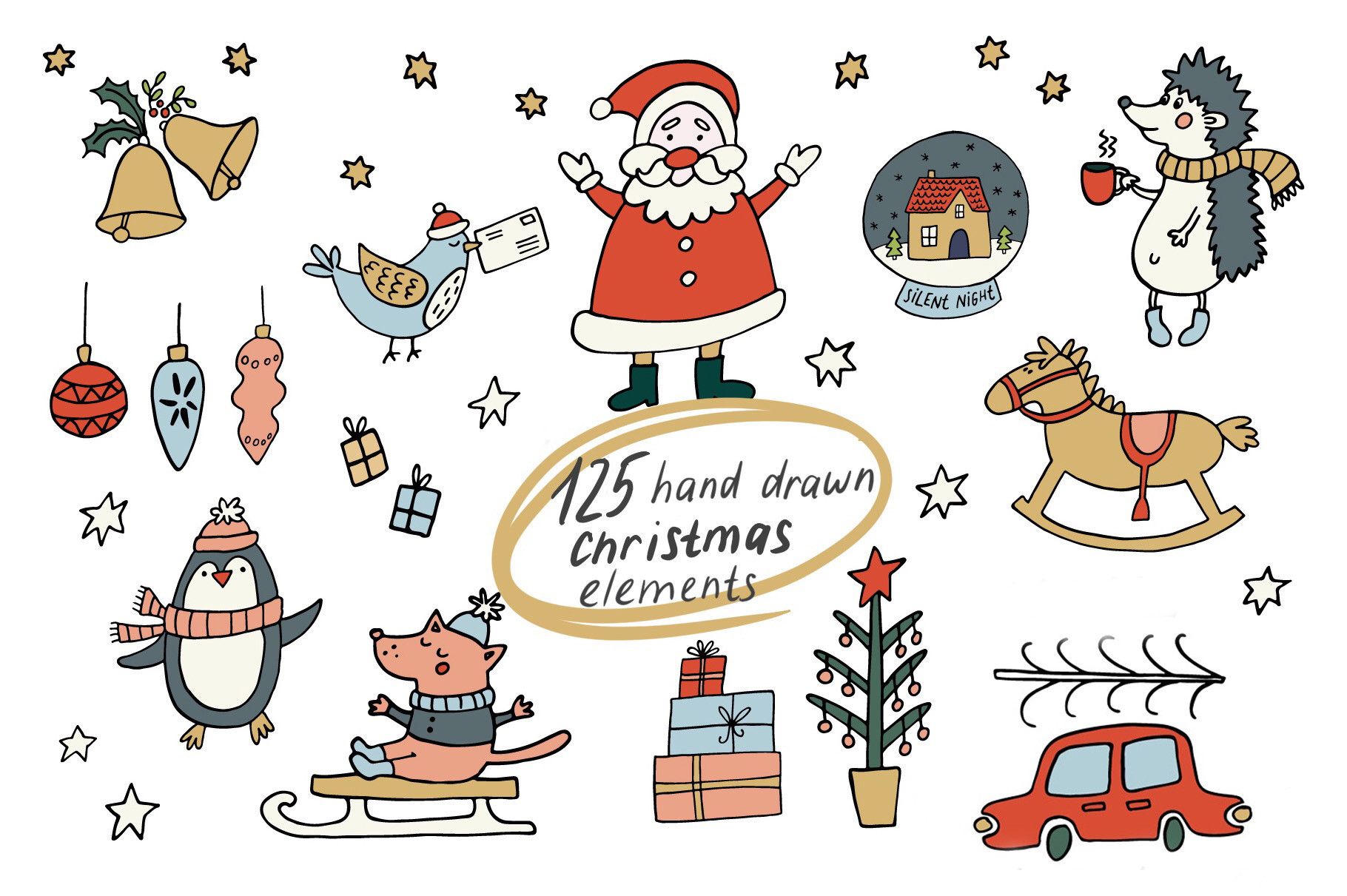 Cozy Christmas Clipart example image 2
