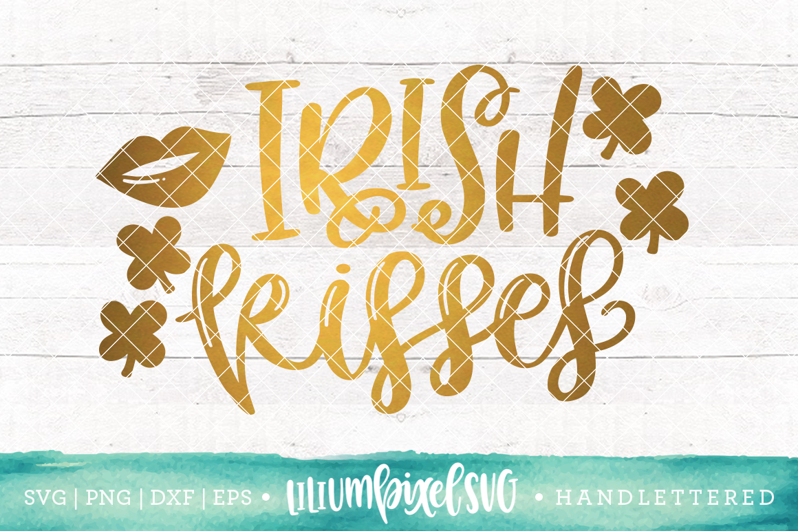Irish Kisses / SVG PNG DXF EPS file example image 1