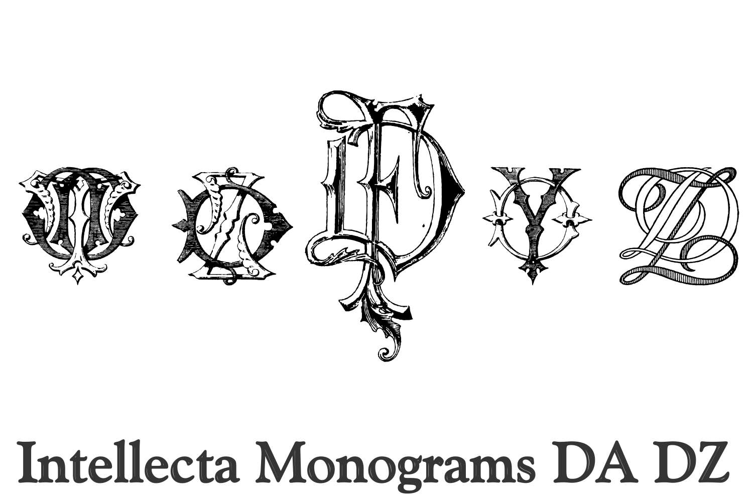 Intellecta Monograms DA DZ example image 4