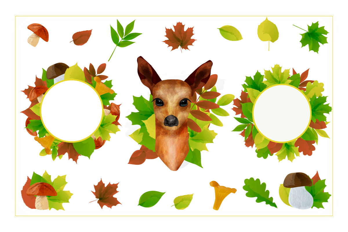 Autumn watercolor style vector collection. example image 6