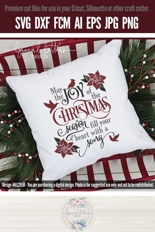 Joy of the Christmas Season with Cardinal SVG LL265B example image 4