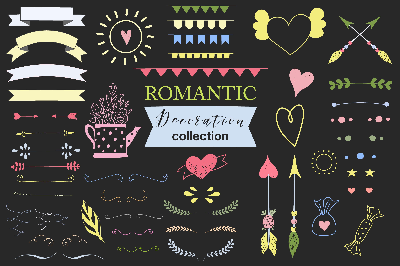 Hand drawn Romantic design kit example image 7
