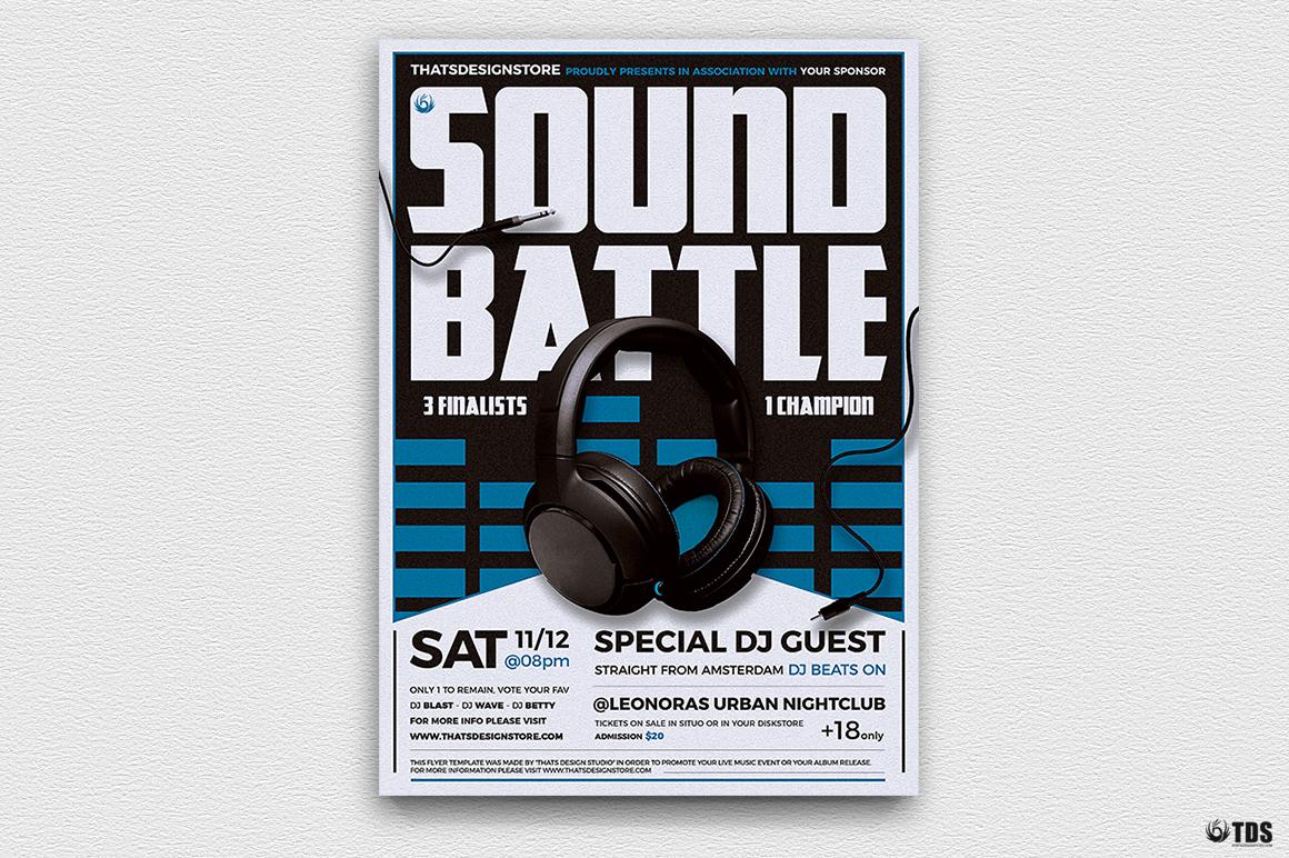 DJ Battle Flyer Template V3 example image 3