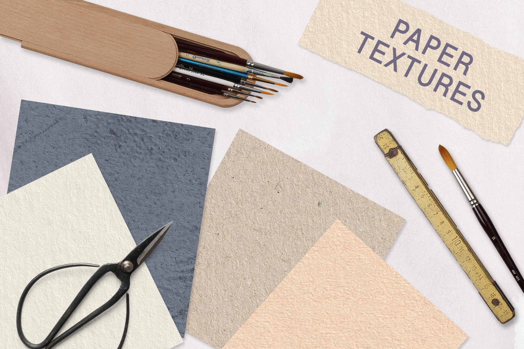 Seamless Textures & Patterns Bundle - Shabby Chic Design Kit example image 17