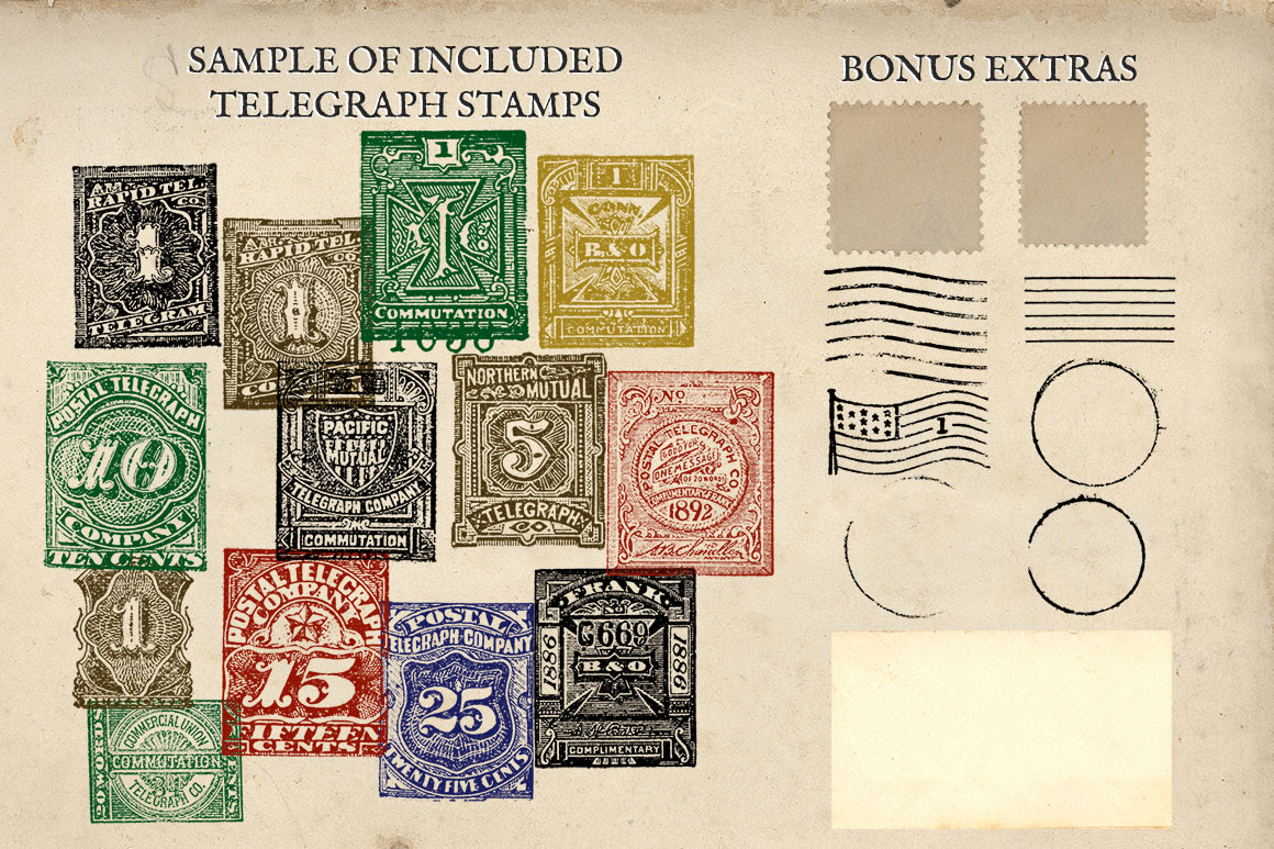 Antique US Stamp Graphics example image 5